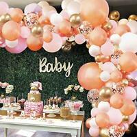 Rose Gold Balloon Garland Arch Kit - 152 Pieces Rose Gold Pink White wedding