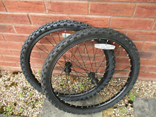 "Front MTB 24"" wheels black axle excellent condition"