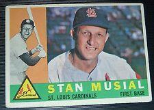 1960 Topps # 250 VG EX 57 yrsold STAN MUSIAL St Louis Cardinals Baseball Card
