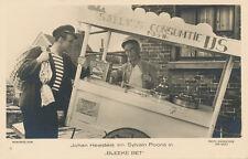 "Ice Cream Hand Cart RPPC 1934 * Cone Waffle Serving ""Bleeke Bet"" Movie Nederland"