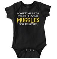 Tough Having Magic Nerds For Parents Geeky Wi Newborn Romper Bodysuit For Babies