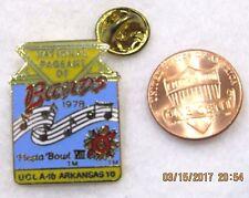 National Pagent of Bands 1978 Fiesta Bowl VIII UCLA Arkansas Lapel Pin Pinback