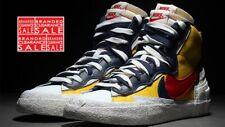 BNIB New Men Nike X Sacai Mid Blazer Yellow White - UK 8