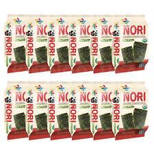 Organic Kimnori Seasoned Roasted Seaweed Snacks - 12 Pack Sweet Spicy Kim Nori