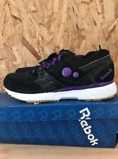 REEBOK PUMP RUNNING DUAL BLACK PURPLE EMPEROR SIZE 9 NEW IN BOX J89275