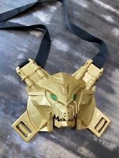 2013 Power Rangers super megaforce gold chest plate with green light up eyes