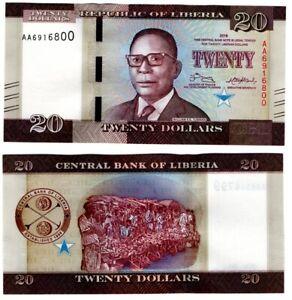 Liberia - 20 Dollars 2016 UNC Lemberg-Zp