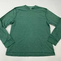 Old Navy T Shirt Mens Large Long Sleeve Green Crew Neck Classic Fit Cotton Blend