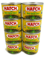 Hatch Fire Roasted Mild Diced Green Chiles Pack of 8 Cans 4 oz Each Can