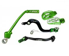 New Apico KX 85 01-20 Green Kickstart Rear Brake Gear Lever Pedal Pegs Combo