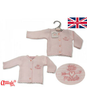 Premature Baby Cardigans-Pink Girls-Preemie Range-3-5 lbs-5-8 lbs-Little Miracle