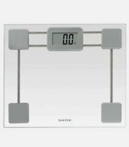 Salter Compact Platform Electronic Digital Bathroom Scale - Glass - 9081 SV3R👀.