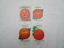 Vintage Pumpkin seed packets x4 Farmers Supply empty