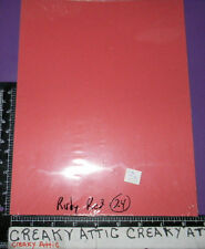 STAMPIN UP RUBY RED 24 >>>SHEETS CARDSTOCK PAPER  8 1/2 X 11 retired