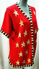Quacker Factory Cardigan Patriotic Stars Sweater Sequin Top cotton button M NEW