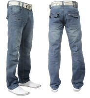 BRAND NEW MENS ETO EM185 CLASSIC STRAIGHT LEG STONE WASH JEANS > SPECIAL OFFER <