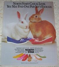 1983 print ad page - North Star shoes CUTE bunny rabbits Bata Shoe Belcamp MD