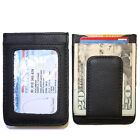 Men?s Leather Wallet Credit Card ID Holder Money Clip