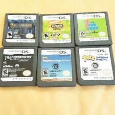 Lot of 5 Nintendo DS Games for KIDS Transformers Petz Six Flags Nickelodeon