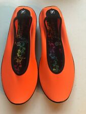 Arcopedico Lolita Ballet Flats Easy Walk Slip On Size 37 6.5 7 Orange WORN ONCE