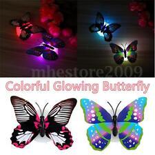 LED Glowing 3D Butterfly Night Light Sticker Art Design Mural Home Wall Decal