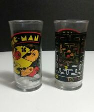 Set of 2 Vintage 1982 Bally Midway PAC-MAN Video Game Drinking Glasses Tumblers