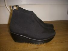 Bernie Mev black wedge ankle fabric shoes size 39/UK 6