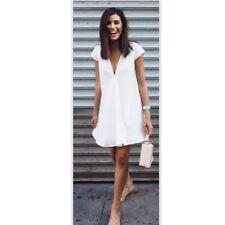 Women Fashion Summer Short Mini Dress Casual Short Sleeve Evening Party Cocktail