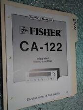 Fisher ca-122 service manual original repair book stereo amp amplifier