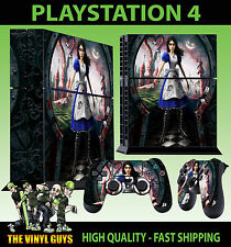 PS4 peau alice madness returns sabre lame autocollant + contrôleur decals debout