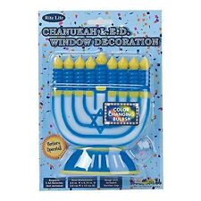 RITE LITE CHANUKAH LED WINDOW DECORATION BATTERY OPERATED COLOR CHANGING NEW