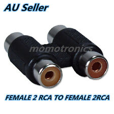 2 RCA AV Audio Video Coupler Female to RCA Female Adapter Joiner Connector