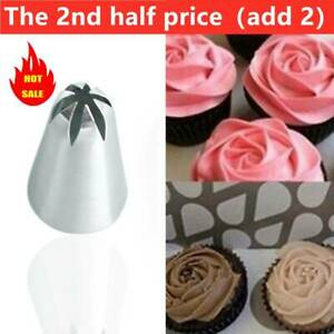 #2D Large Size Cake Cream Flower Piping Nozzles Stainless Steel Pastry Tool