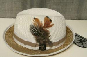 stacy adams milan straw fedora hat medium