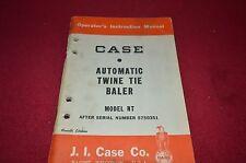 Case Tractor NT Hay Baler Operator's Manual DCPA