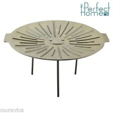 Grillplatte,Gusseisen,Grillen,Grill,Grillpfanne,44 cm,Natur,Perfect Home