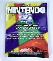 PRIMA'S Nintendo 64 Unauthorized Game Secrets Strategy Book N64