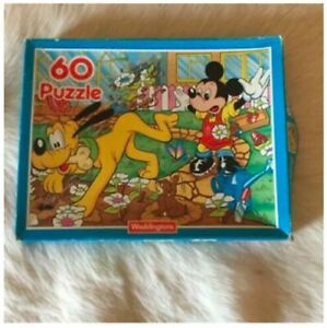Disney MICKEY MOUSE and PLUTO Dog Jigsaw Puzzle 60 Pieces 1990 VINTAGE 90s