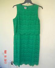 NWT ANNE KLEIN GREEN LACE COTTON DRESS SIZE 14 $129