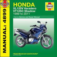 Honda XL125 Varedero VT125 Shadow 1999-2011 Haynes Manual 4899 NEW
