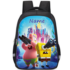 SpongeBob SquarePants Personalised School Bag Kids Backpack Rucksack Reflective
