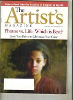 THE ARTIST'S Magazine 10/01 SARGENT & WYETH PHOTOS VS LIFE: WHICH IS BEST?