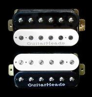 Guitar Parts GUITARHEADS PICKUPS ZBUCKER HUMBUCKER - SET 2 - BLACK & WHITE ZEBRA