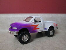 """Vintage 1997 Tootsietoy Ford F-150 Die Cast #7 Truck White Purple 6 1/2"""" Long"""