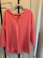 NWOT Ralph Lauren XL Pink 3/4 Sleeve Shirt with Half Zip