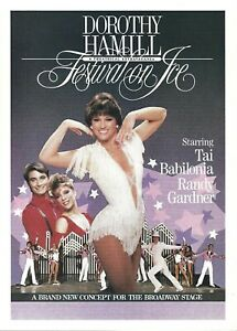 Festival On Ice Herald Flyer Ad, Dorothy Hamill, Tai Babilonia, Houston, 1986