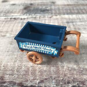 Sylvanian Families Replacement HTF Spares   Blue Milkman Farm Push Cart Trolley