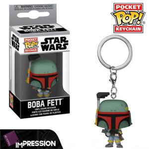 Boba Fett Star Wars Official Mandalorian Funko Pocket Pop Keychain