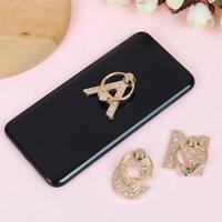 New 360° Rotate Metal Letter Diamond Finger Ring Stand For Phone Holder B1Q8