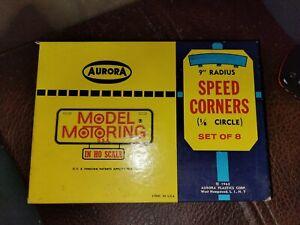 "Aurora Model Motoring HO Slot Car 9"" Radius SPEED CORNERS  (8pc) No. 1597 N.I.B."